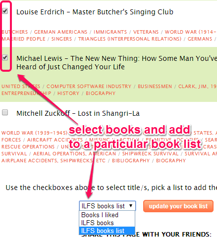 create book list to store recommendations