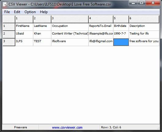 csv file reader - CSV Viewer