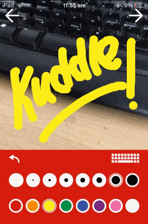 doodle kuddle