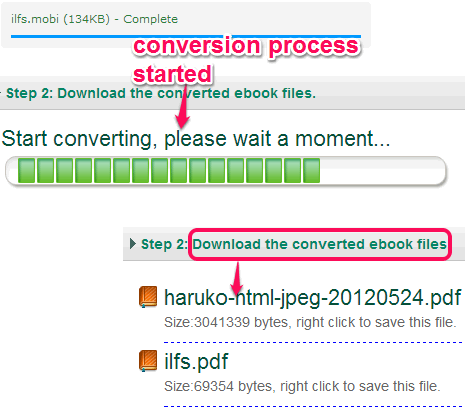 download converted files