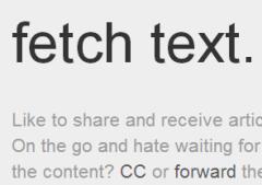 fetch text