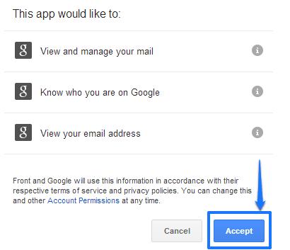grant access inbox checkup