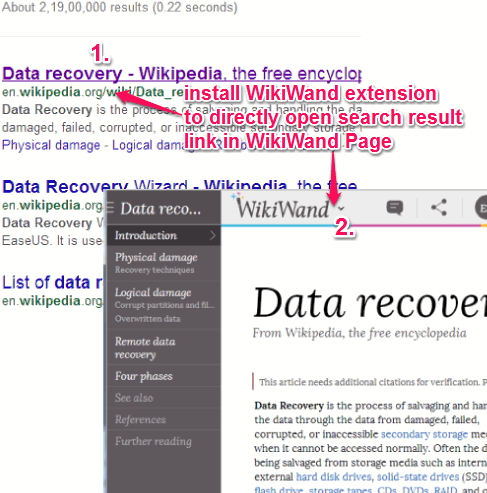 install WikiWand extension