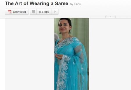 drape saree online