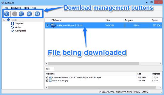 miniget download start