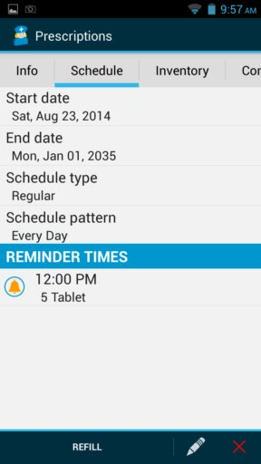 pill reminder apps android 5