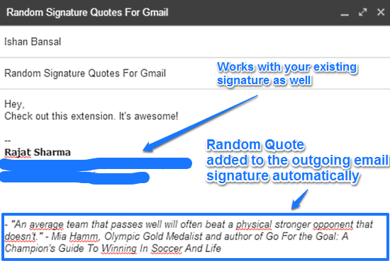 random signature quotes for gmail at work