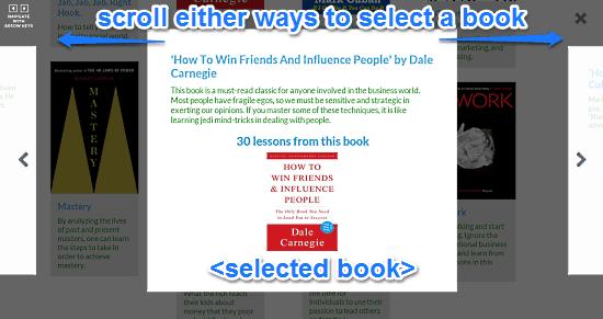 rlg book selection view