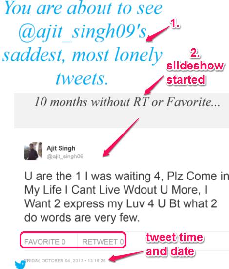 sad tweets slideshow
