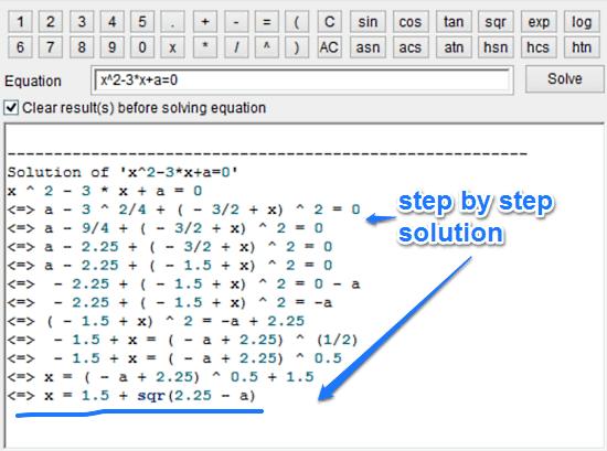 sample equation solution 1