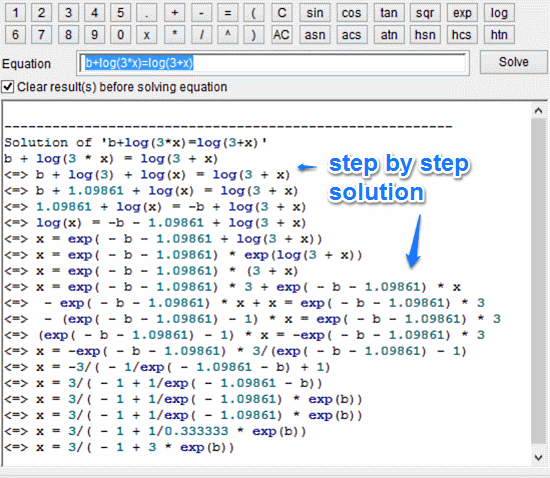 sample equation solution 2