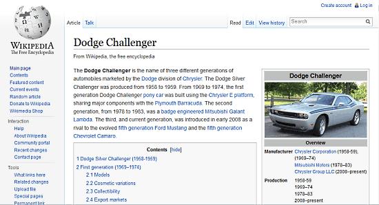 sample wikipedia page