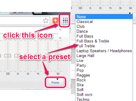 select preset