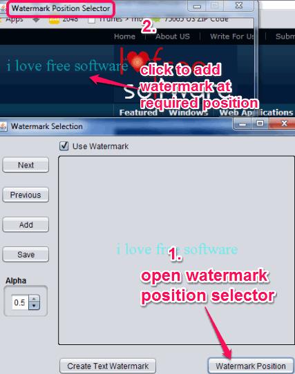 set watermark position