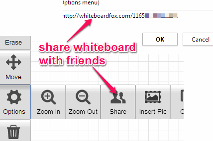 share whiteboard with friends