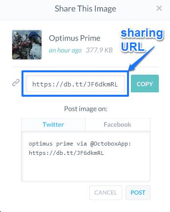 sharing url