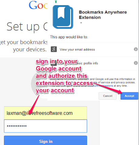 sign in with required Google account