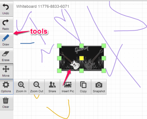 start drawing on your whiteboard