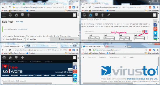 tabs splitted into separate windows