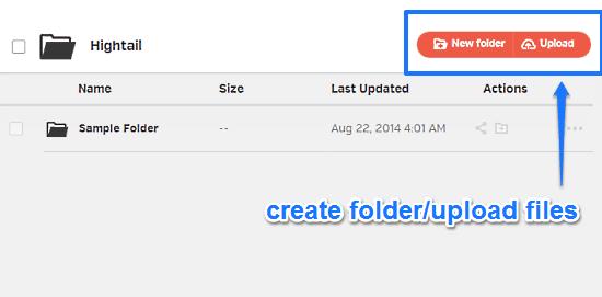 upload folders