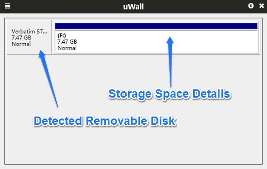uwall disk detected