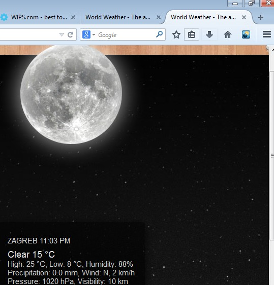 weather forecast addons for Firefox 3