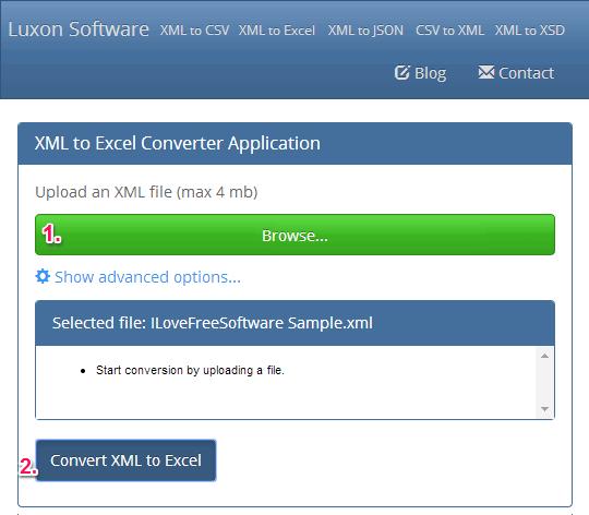 xml to excel - Luxon Software