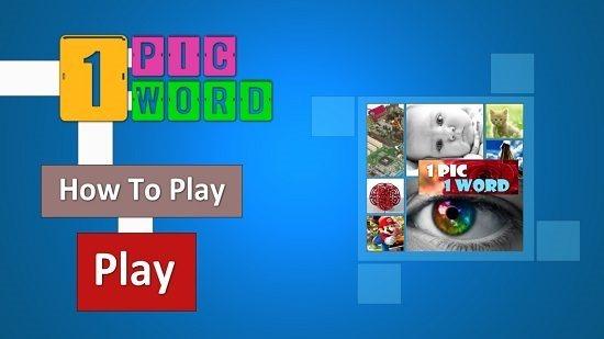 1 Pic 1 Word Main Screen