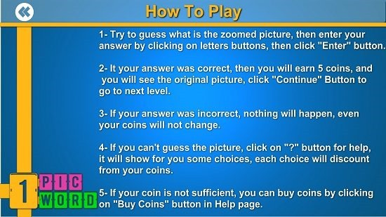 1 Pic 1 Word instructions