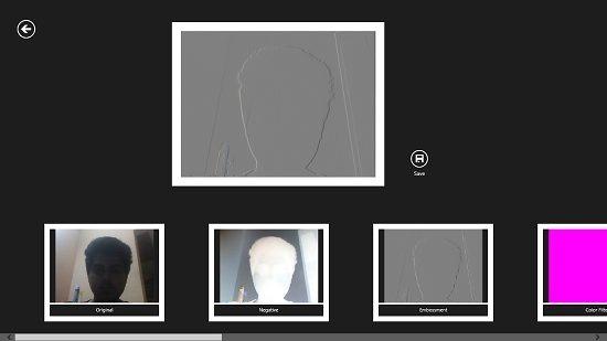 AR Photoeffects Emboss effect applied