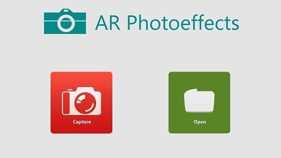 AR Photoeffects main screen