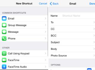 Adding Shortcuts