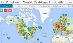 Air Pollution in World web app