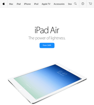 Apple Store Home Screen