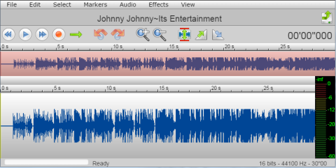 Audio Editing Interface