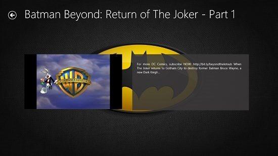 Batman Videos Video Playback