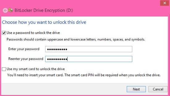 BitLocker Drive Encryption-Password