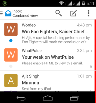 Boxer Inbox Intrface