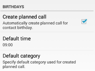 Call Planning for Birthdays