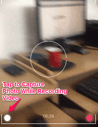 Capture Photo While Recording Video on iPad