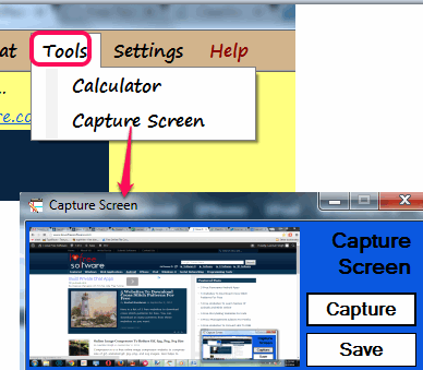 Capture desktop screen