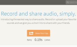 Clyp- record audio online