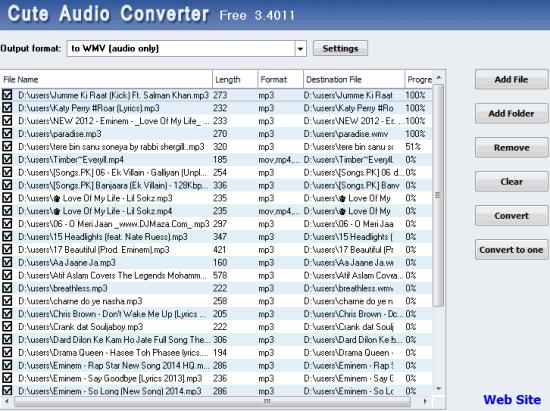 Cute Audio Converter- bulk convert audio files