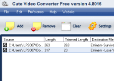 Cute Video Converter Free Version