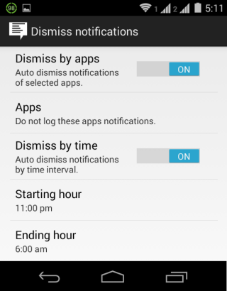 Dismiss Notifications