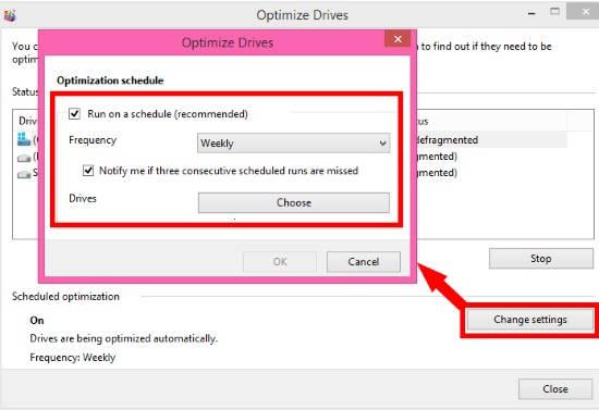 Drive Optimization-Schedule
