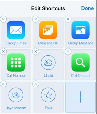 Edit Shortcuts