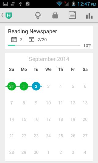 Enlarged Calendar View