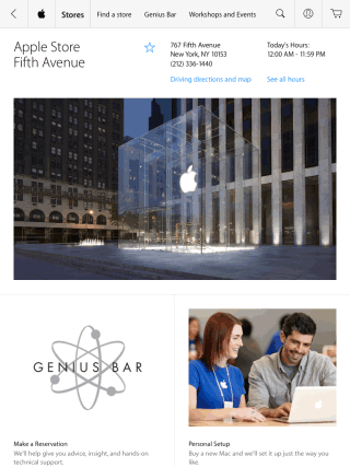 Finding Apple Store