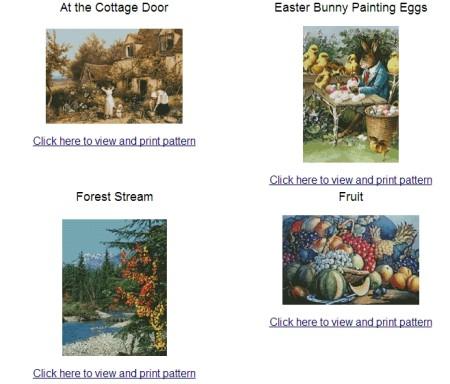 download cross stitch patterns